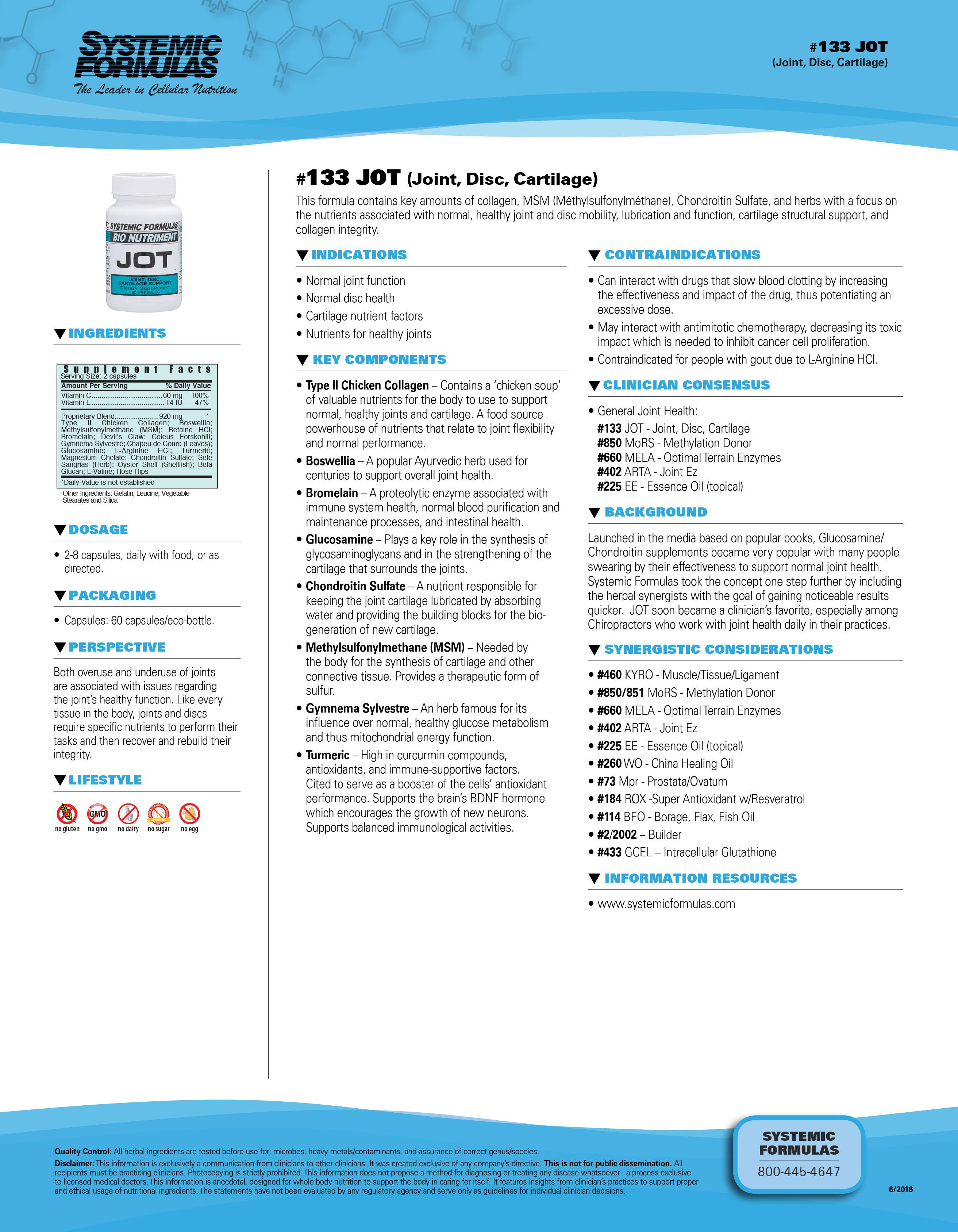 #133 JOT (Joint, Disc, Cartilage)