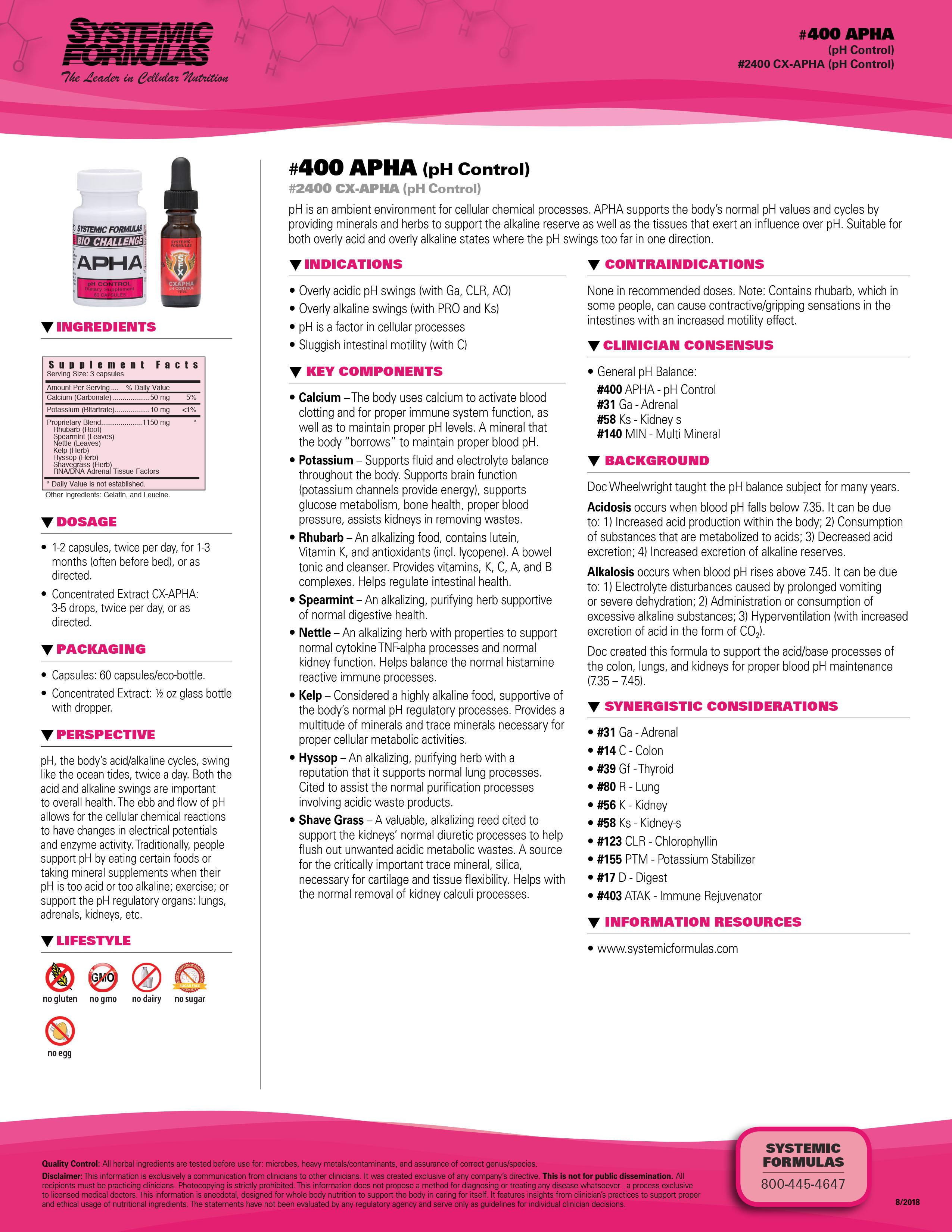 #400 APHA (pH Control)