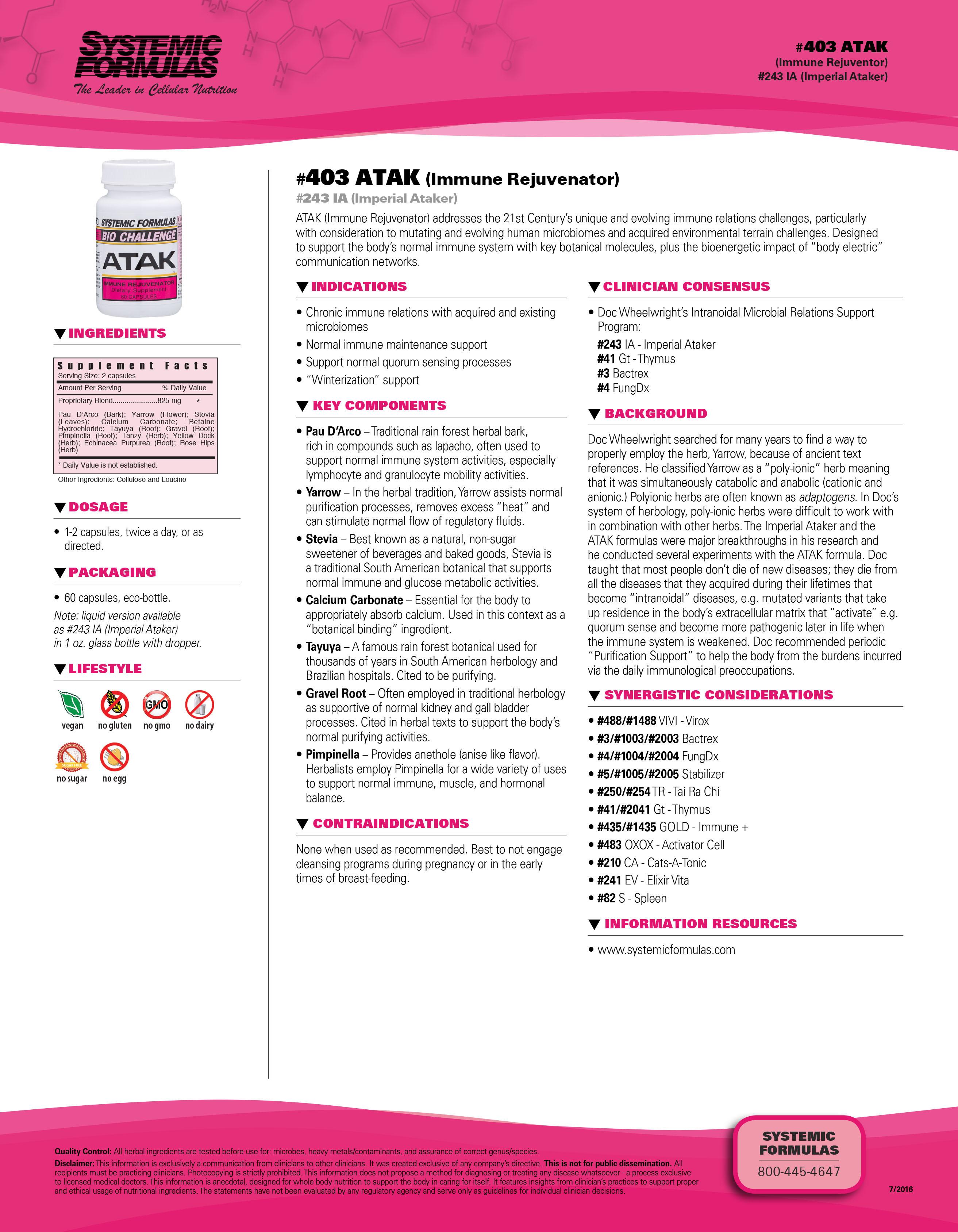 #403 ATAK (Immune Rejuvenator)